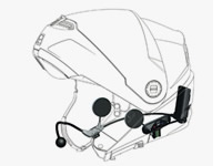 Helmet headsets for motorcycle communication